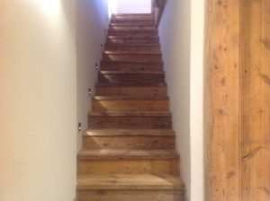 rustic chalet stairs